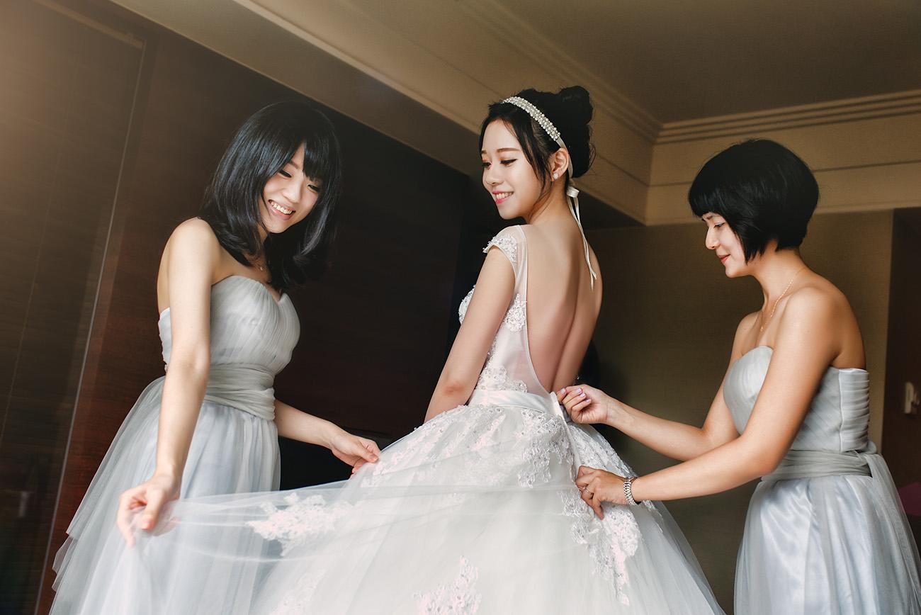 《台北婚攝》最不想讓妳嫁掉的就是閨蜜了 / 晶華酒店