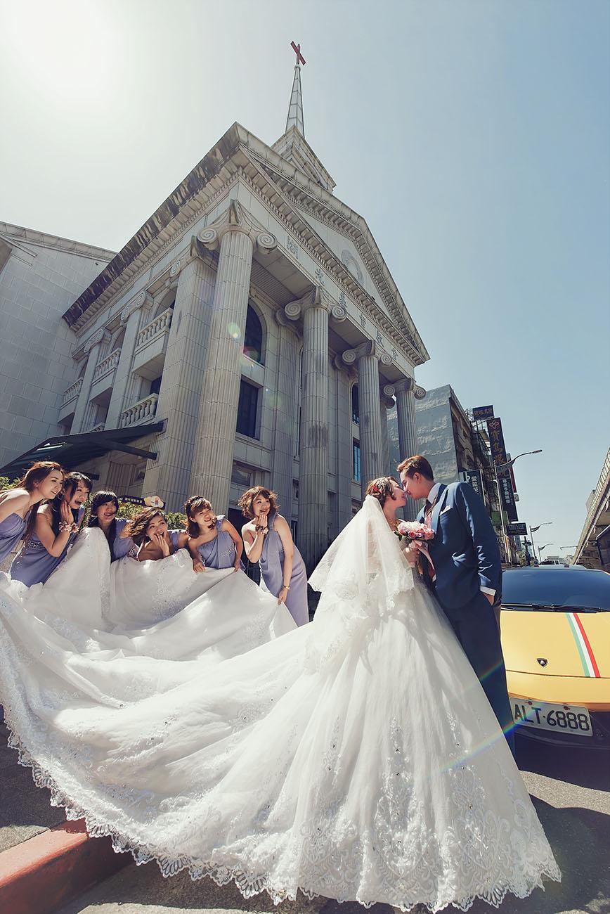 《台北婚攝》在上帝見證下的聖潔美麗時刻 / 萬豪酒店